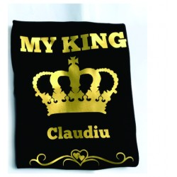 Tricou imprimat - My King...